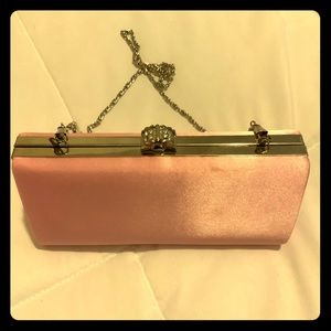 Women's clutch/ satin / light pink / never used